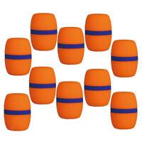 Parabrezza microfono a schiuma a spugna 10 pezzi di ricambio Copri Arancione