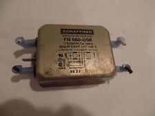Schaffner EMI Filter, 110/250VAC 50/60Hz 6A, FN660-6/06
