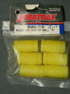 DURATRAX #BUK1710 1/10TH SCALE MOLDED EXHAUST COUPLER SMALL- YELLOW (6 PCS)
