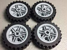 NEW LEGO WHEEL 30mm x 14mm & 43.2 x 14 Tire Offset Tread (x4) (56904 / 56898)