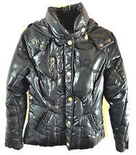 Women's RocaWear Roc Out Black Puffer Zipper Front Faux Fur Hooded Winter Coat M