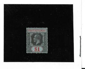 Straights Settlements King George V 1914 $1 Black & Red on Blue SG 209 Mint