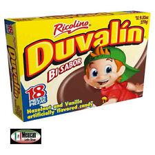 Duvalin Hazelnut & Vanilla Flavord 18-pcs box Net Wt 9.5-0z Mexican candy