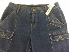 Womens DKNY Jeans Cropped Size 6 31x25 Multi Pockets New With Tags