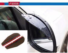 2PCS AUTO ACCESSORIES Universal Brown Car Rearview Mirror Rain Water Guard
