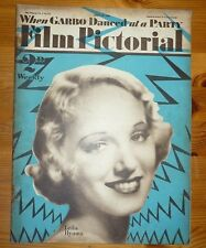 FILM PICTORIAL Vol V No 127 28TH JULY 1934 LEILA HYAMS COVER GRETA GARBO