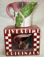 Flamingo a sugar bowl wih a lid old ceramic c1997 22 years old NOS