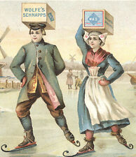 1893 CHICAGO COLUMBIAN EXPO TRADE CARD, WOLFE'S SCHIEDAM AROMATIC SCHNAPPS  C900