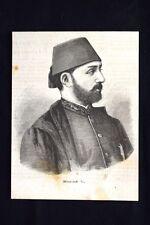 Il sultano dell'impero ottomano Murad V Incisione del 1876