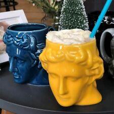 Ceramic David Head Mug Large Ancient Greek Sculpture Cup Office Desktop Decor