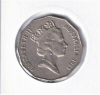 1985 Australian 50 Cent Coin - VERY LOW MINTAGE - KEY DATE - RARE
