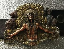 ,RARE NATIVE AMERICAN PATENTED 1999 BELT BUCKLE,BERGAMOT WISCONSIN USA 53115