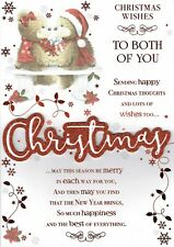 TO BOTH OF YOU  - Quality Large Christmas Card Cute Bears Design