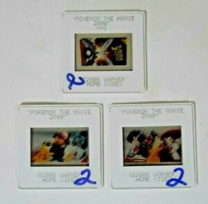 Lot of 3 POKEMON THE MOVIE Photo 35mm Transparency Film Slides (2000, Warner)