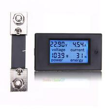 DC 6.5-100V 100A Digital Watt KWH Current Power Energy Meter Ammeter Voltmeter