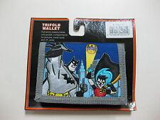 "Batman Tri-Fold Wallet 4.5"" x 3.25"" ( BLUE ) BRAND NEW WITH TAGS"