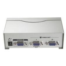2 Port VGA Switch Box Switcher Video Splitter Selector Monitor PC &Power Supply