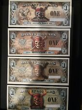 Disney DOLLARS All 4 four Pirates of the Caribbean 2007 - 2011 unicrculated NEW