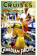 1930 Cruises Vintage Canada Canadian Pacific Travel Advertisement Art Poster