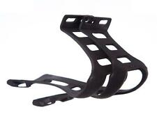 New Bicycle Bike TOE CLIPS without STRAPS in BLACK (Attaches to pedals)
