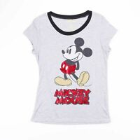 DISNEY MICKEY MOUSE Grey Short Sleeve T-Shirt Size Women's Small