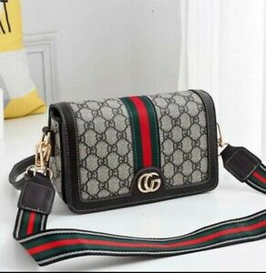 Purely Radiant Luxury Handbag PU Leather Shoulder Cross Body Bag Messenger