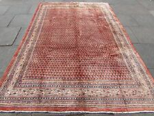 Old Traditional Persian Rug Oriental Hand Made Large Wool Pink Carpet 312x210cm