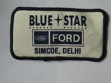 BLUE STAR FORD SIMCOE DELHI VINTAGE EMPLOYEE PATCH BADGE LOGO ADVERTISING