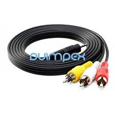 G09 TV AV Kabel 2.5mm Klinke zu Cinch RCA Composite Video Stereo Audio Camcorder