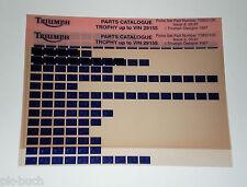 Microfich Ersatzteilkatalog Triumph Trophy bis Fahrgestellnr. 29155 05/1997