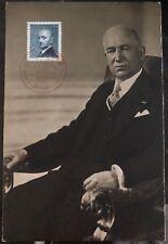 1947 Brno Czechoslovakia Maxi Postcard Cover President Budovatel DR Benes