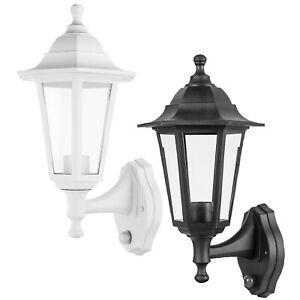 Traditional Exterior Outdoor IP44 Garden Wall Lantern 26x19 Dusk to Dawn Sensor