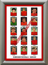 CHARLTON ATHLETIC - 1970-71 - REPRO STICKERS A3 POSTER PRINT