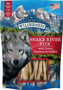 BLUE BUFFALO DOG WILDERNESS SNAKE RIVER GRILL STIX 6OZ    Free Shipping