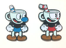 "Cuphead And Mughead Videogame Characters 2"" High Quality Soft Enamel Pin Set"