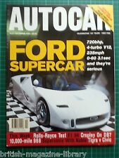 Autocar 2/12/1994 - Porsche 968 CS Ford GT40 Road Test: Rolls-Royce Flying Spur