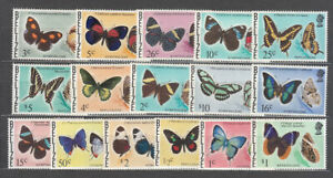 Belize - Mail Yvert 335/50 MNH Some Value With Yellow Rubber Butterfly Fau