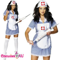 Ladies Naughty Nurse Doctor Uniform Halloween Fancy Dress Party Smiffys Costume