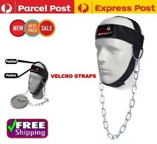 GYM WEIGHT LIFTING HEAVY DUTY  HEAD NECK STRENGTH HARNESS STRAP UFC CHIN FITNESS