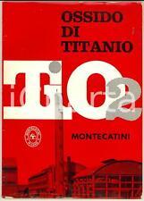 1950 ca MILANO Società MONTECATINI Ossido di titanio *catalogo ILLUSTRATO 38 pp.