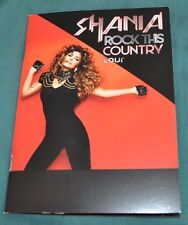 Shania Twain Rock This Country Tour RARE VIP Photo Book/Program now w/Free Gifts