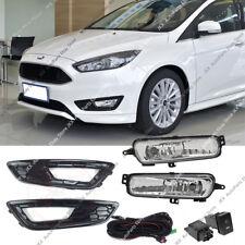 For Ford Focus 2015-2018  Fog Lights k Harness Switch Bezels Kit Sport Version