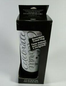 "Hallmark Recordable Travel Mug ""Celebrate"" in Box Tested"