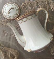 Gda Haviland Limoges Rose Garlands Swags Tea Teapot Coffe Pot