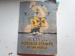 OLD ETA STAMP ALBUM : BIG WORLD COLLECTION - 1888 USED STAMPS.