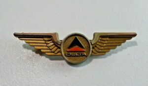 Vintage Delta Airlines Wings Badge Pin Stoffel Seals NY Plastic 7812