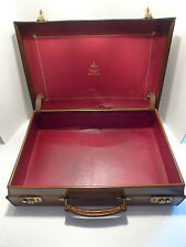 PEAL & CO FOR BROOKS BROS-MADE IN ENGLAND- LEATHER BRIEFCASE- WELL USED-CLASSIC