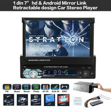 7 inch 1 DIN HD Car Radio Stereo Touch Screen Android Retractable MP5 Player New