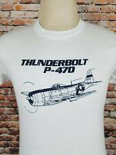 VTG 80`s THUNDERBOLT P-47D ,Air Force ,Pilots,Planes,50/50,Screen star T Shirt S