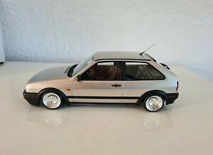 "1:18 VW Polo G40 MK2 mit 14"" Schmidt TH-Line Felgen Chrom ( wie NEU )"